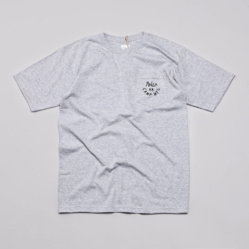 Poler MFG Pocket T Shirt Dark Ash