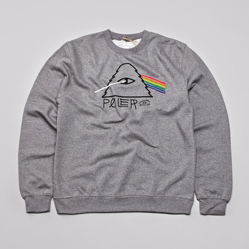 Poler Psychedelic Sweatshirt Gunmetal Heather
