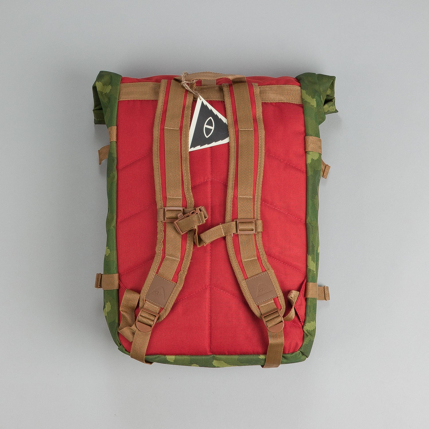 Poler Rolltop Backpack Pack - Camo / Orange