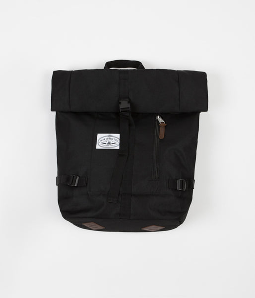 Poler Classic Rolltop Backpack - Black / Brown