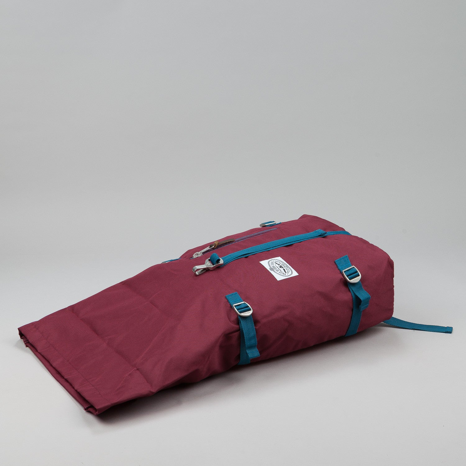 Poler Rolltop Backpack - Burgundy / Red