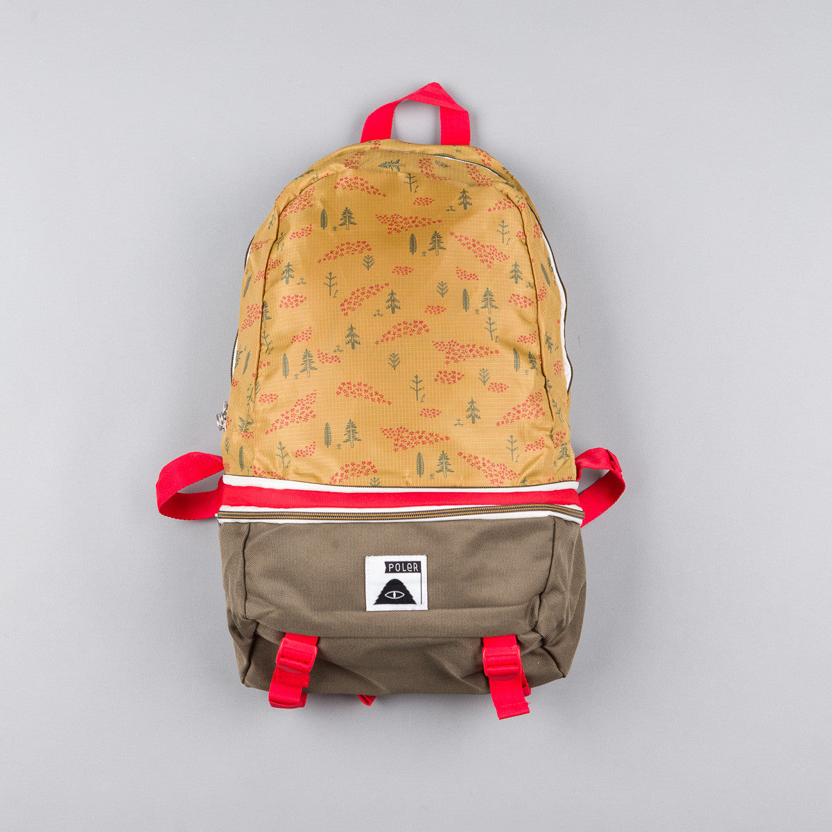 Poler Tourist Pack Bag - Almond Forestry Print