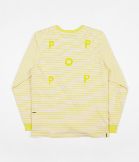 6e9b6f41ec0b49 Pop Trading Company Blaine Striped Long Sleeve T-Shirt - Electric Yellow    White