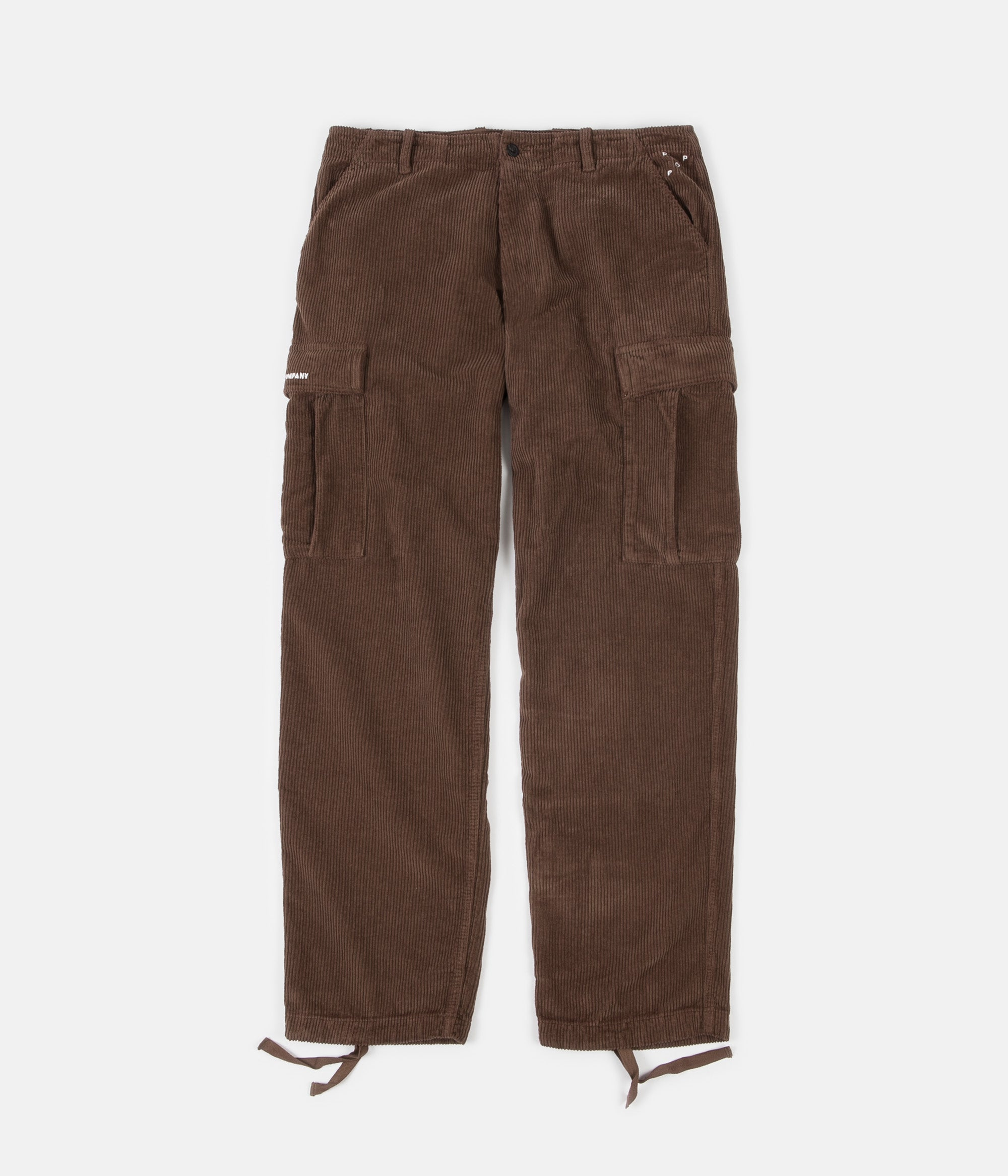 Pop Trading Company Cord Cargo Pants - Brown