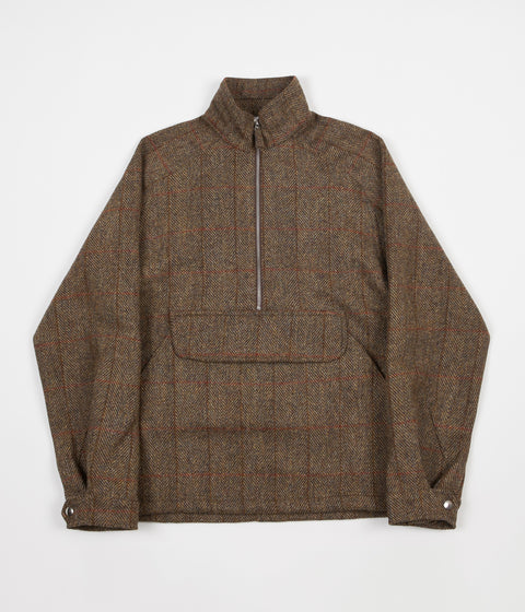 Pop Trading Company DRS Half Zip Jacket - Harris Tweed