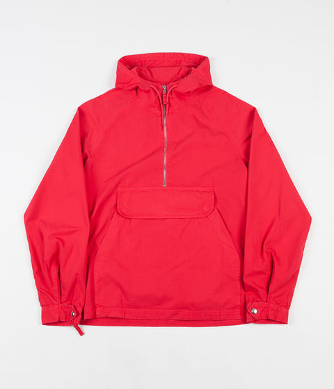 Pop Trading Company DRS Halfzip Hooded Jacket - Coral