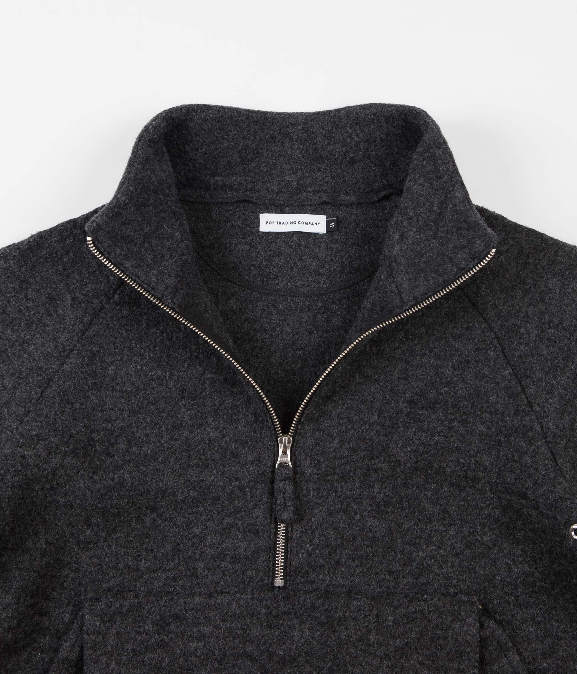 Pop Trading Company DRS Jacket - Anthracite Boiled Wool