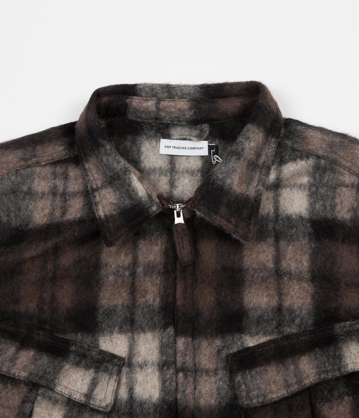 Pop Trading Company Falling Down Overshirt - Black / White / Brown