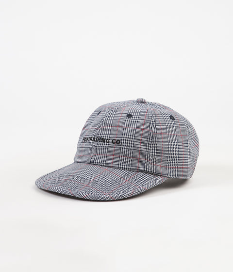 Pop Trading Company Flexfoam 6 Panel Cap - White / Red Plaid