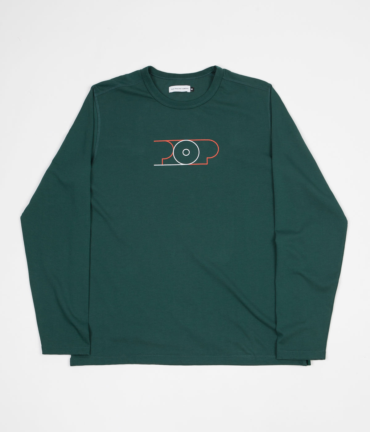 Pop Trading Company Lines Long Sleeve T-Shirt - Sports Green