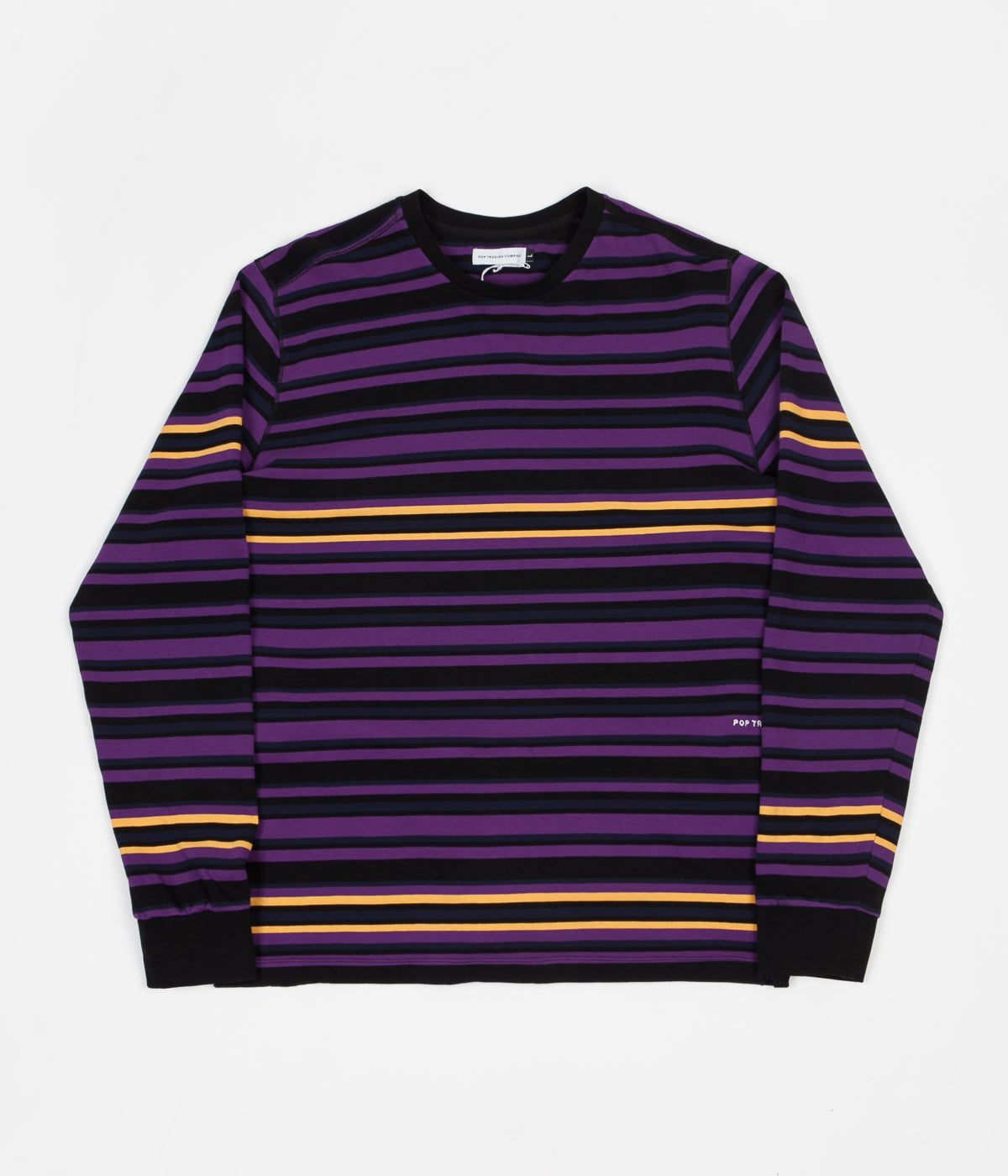 Pop Trading Company Nagel Striped Long Sleeve T-Shirt - Multicolour