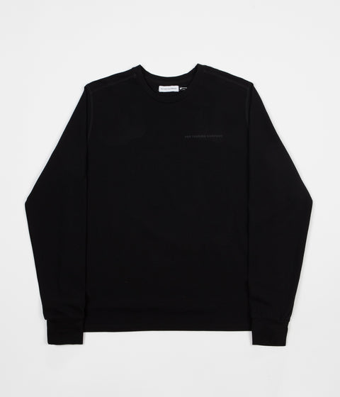Pop Trading Company Pique Logo Long Sleeve T-Shirt - Black