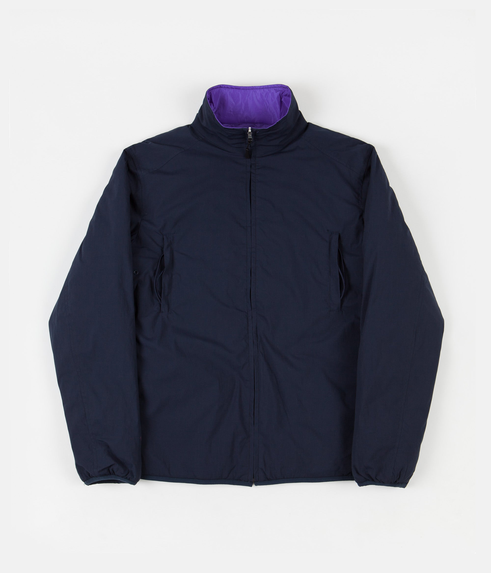 Pop Trading Company Plada Reversible Jacket - Navy / Grape