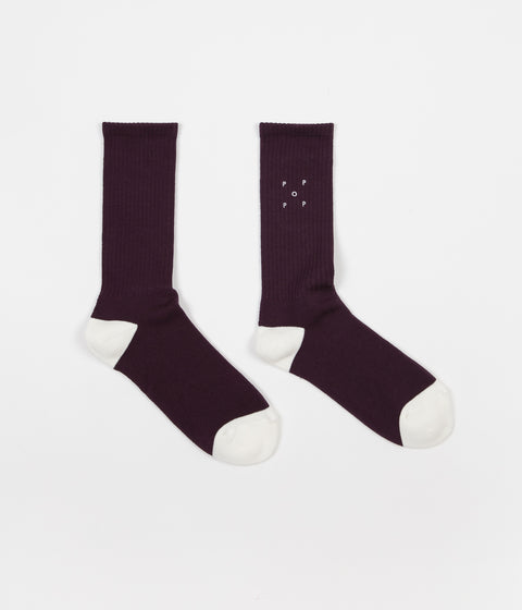 Pop Trading Company Sports Socks - Eggplant