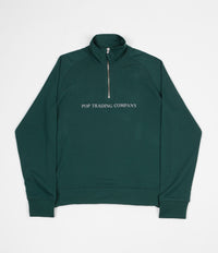 Pop Trading Company Sportswear Company Lightweight Half Zip Sweatshirt - Sports Green