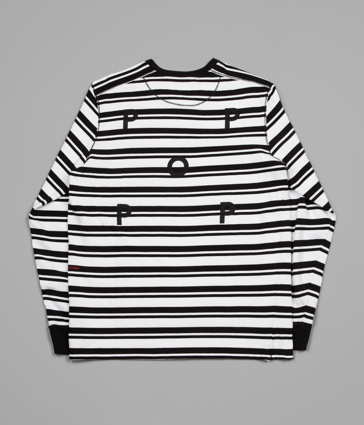 Pop Trading Company Striped Long Sleeve T-Shirt - Black / White