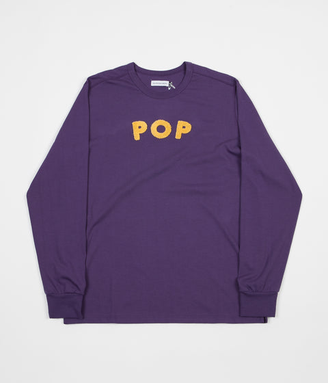 Pop Trading Company Uni Long Sleeve T-Shirt - Eggplant
