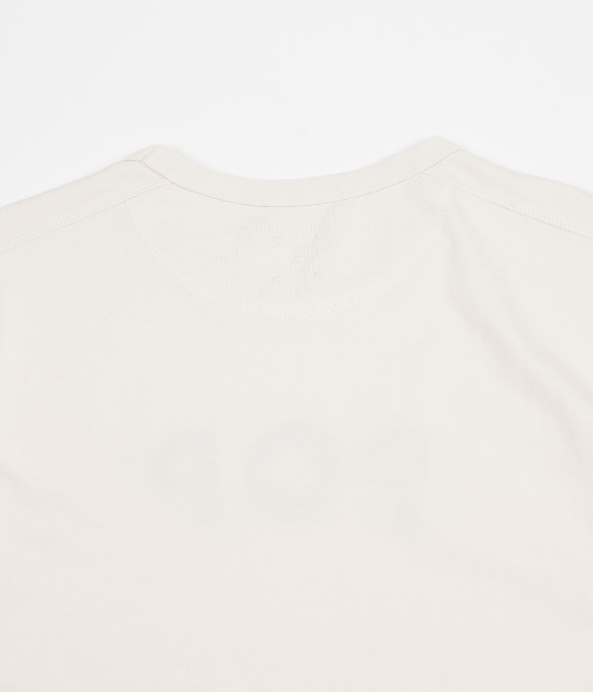 Pop Trading Company Uni Long Sleeve T-Shirt - Off White