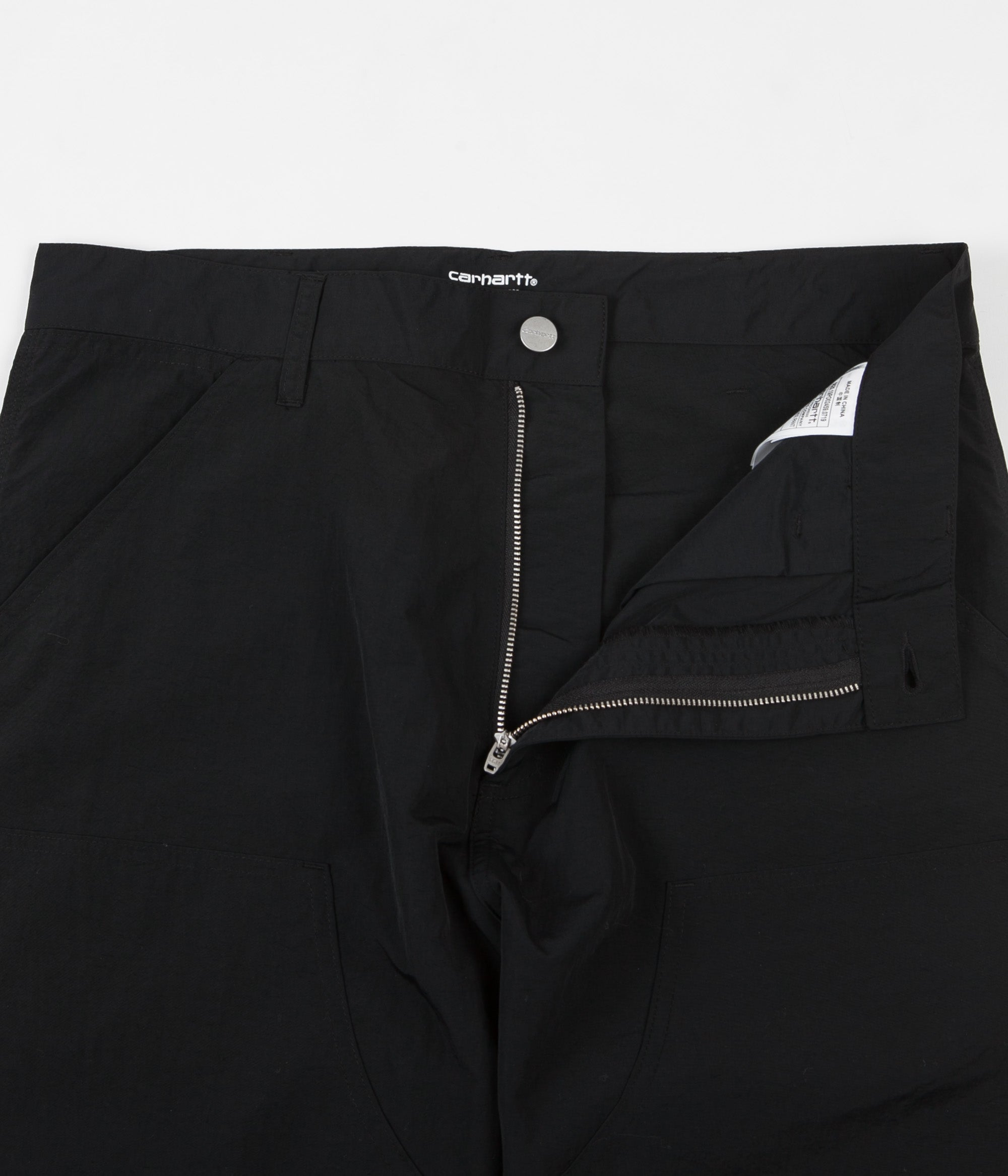 Pop Trading Company x Carhartt Double Knee Pants - Black