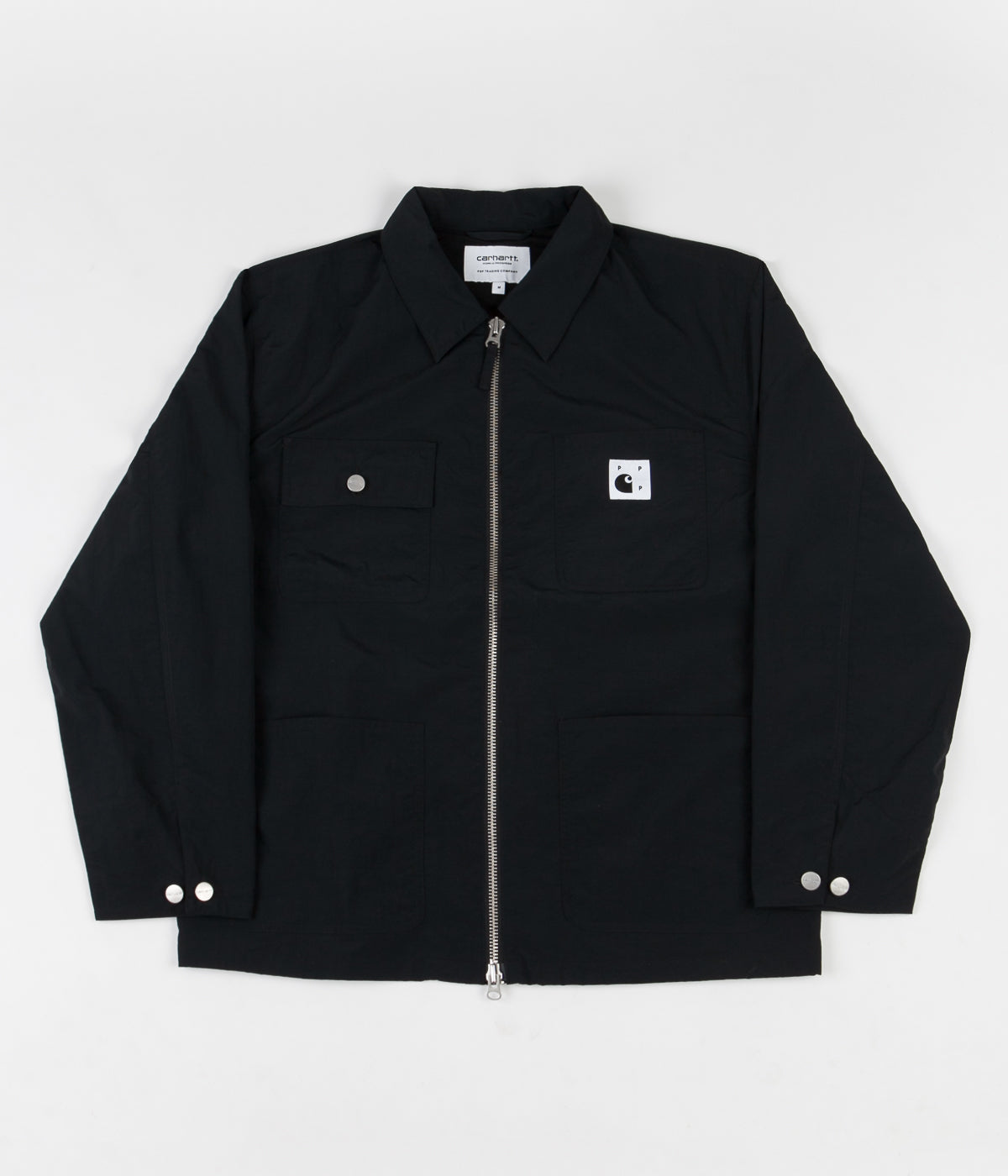 Pop Trading Company x Carhartt Michigan Chore Coat - Black