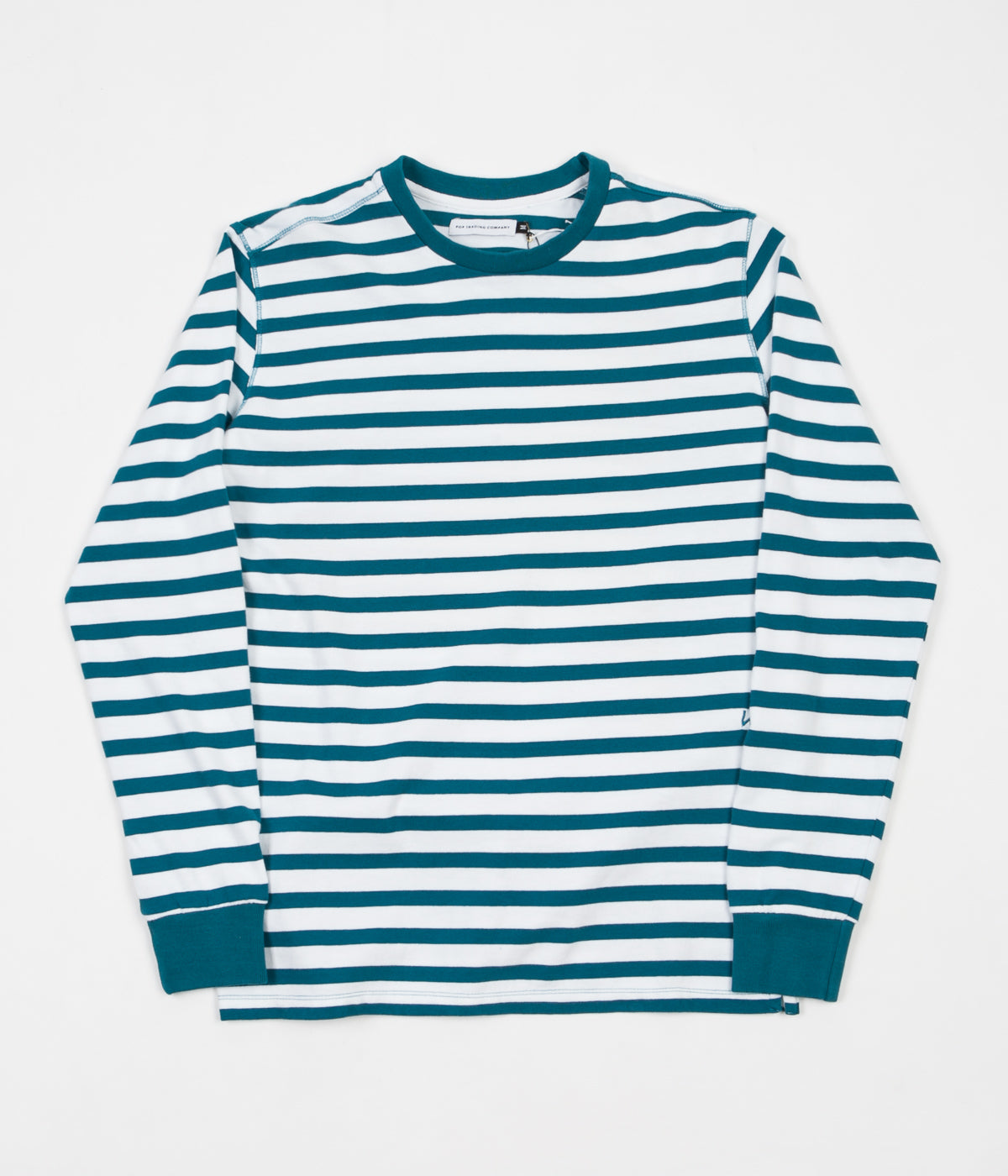 Pop Trading Company x Wayward Wow Long Sleeve T-Shirt - Ocean Green / Off White