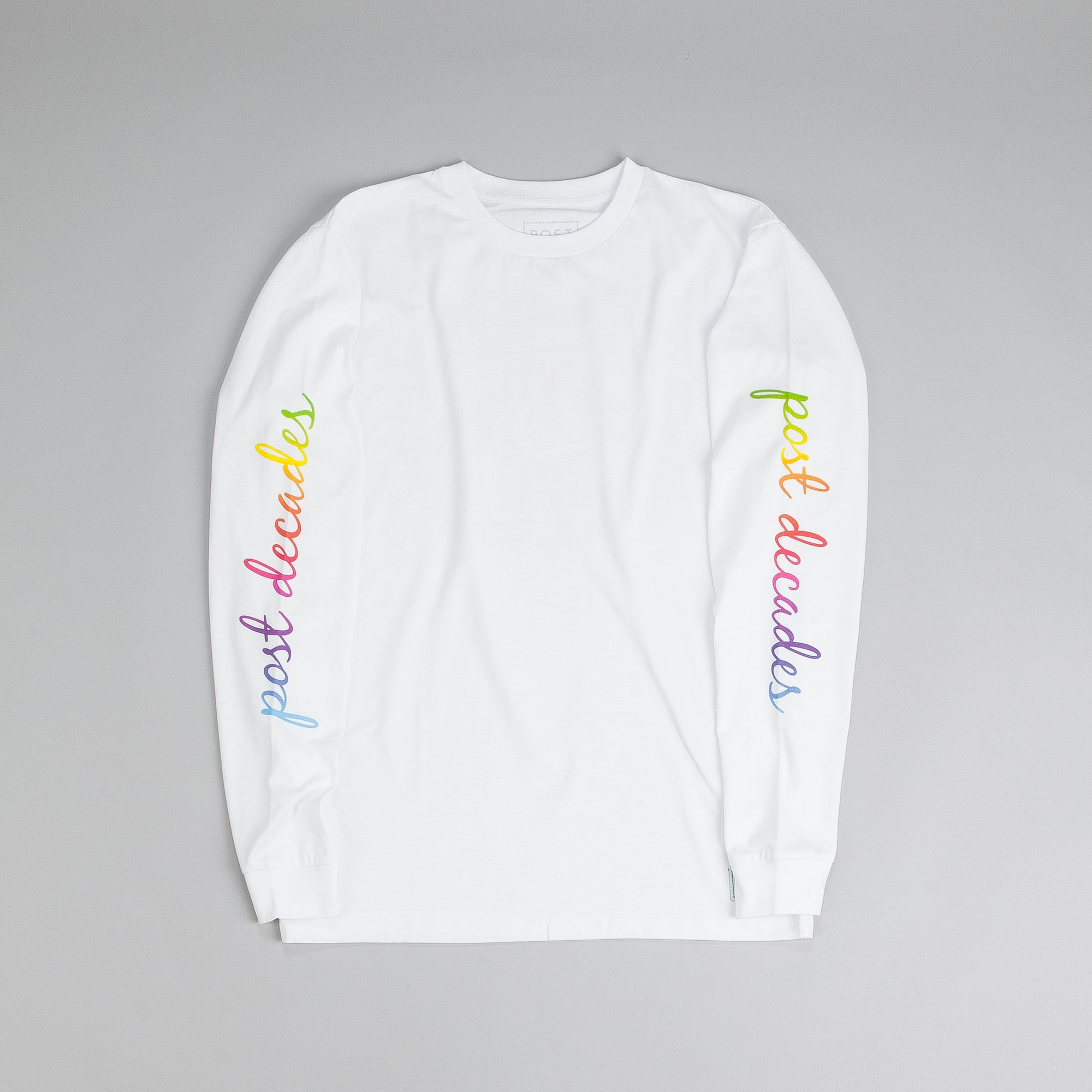 Post Decades L/S T Shirt White