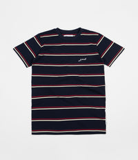 Post Details Classic Striped T-Shirt - Navy