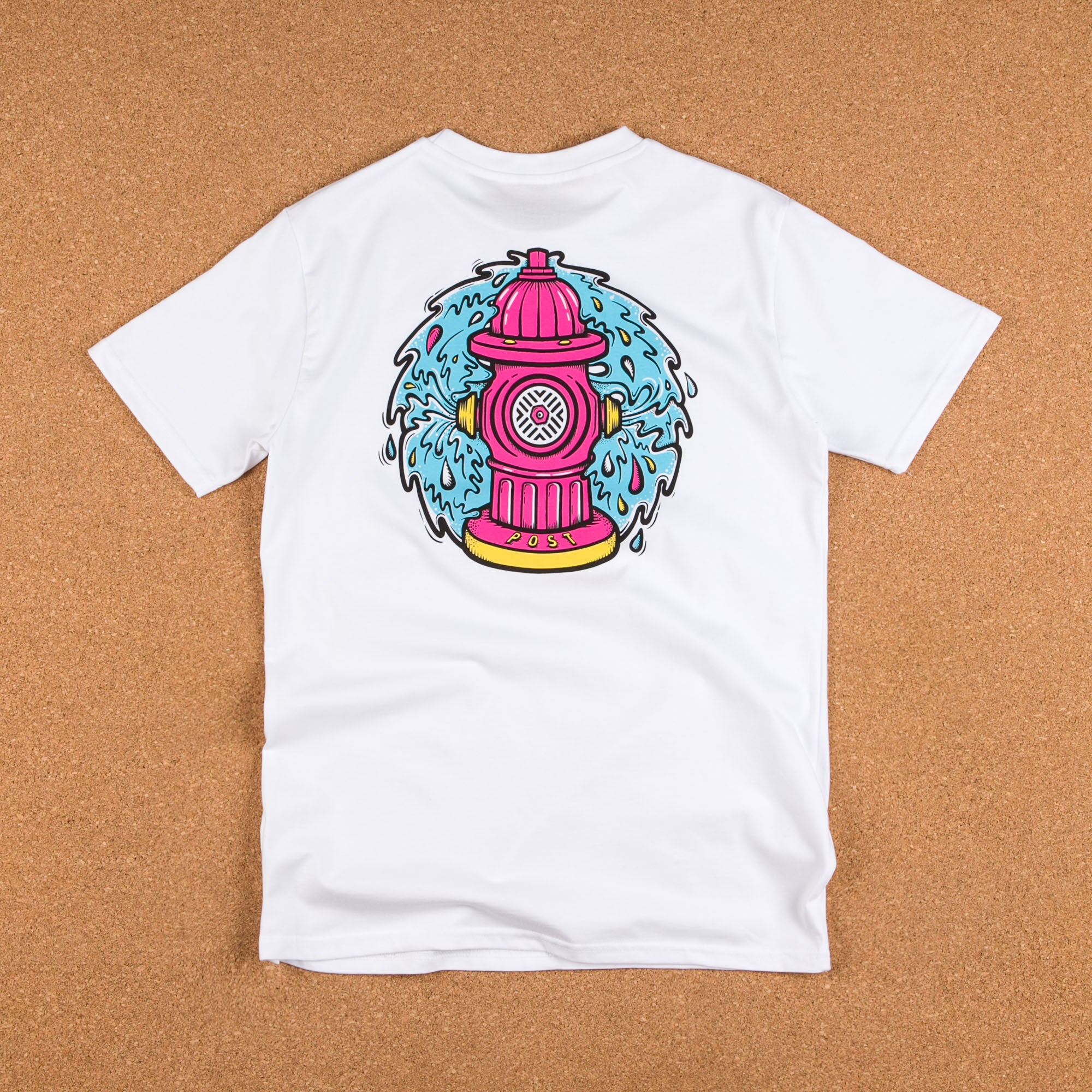 Post Details Decades Splatter Hydrant T-Shirt - White