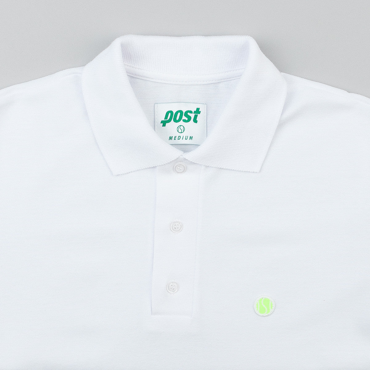 Post Details Tennis Anyone Polo Shirt - White