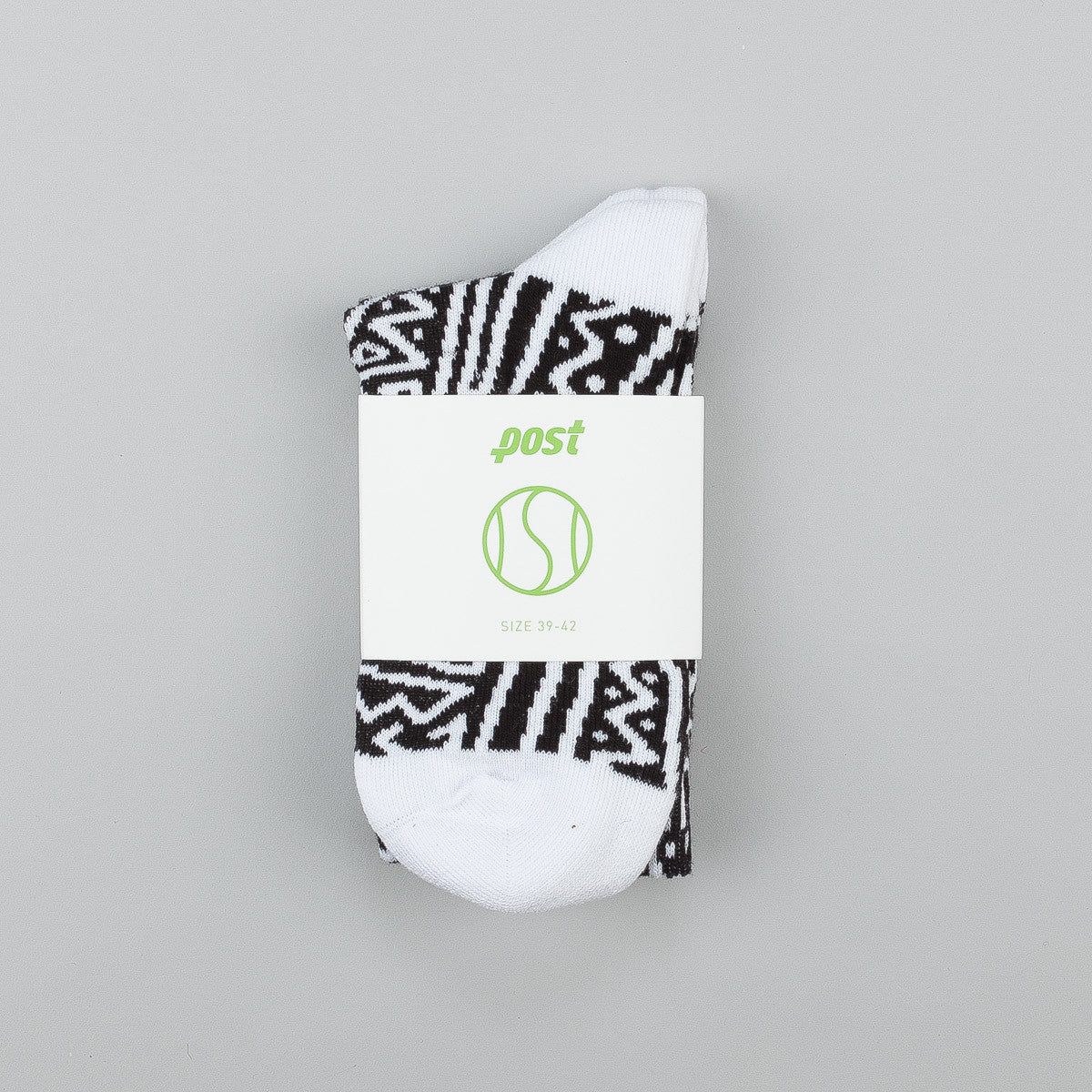 Post Details Tennis Anyone Socks - Skate Face Pattern
