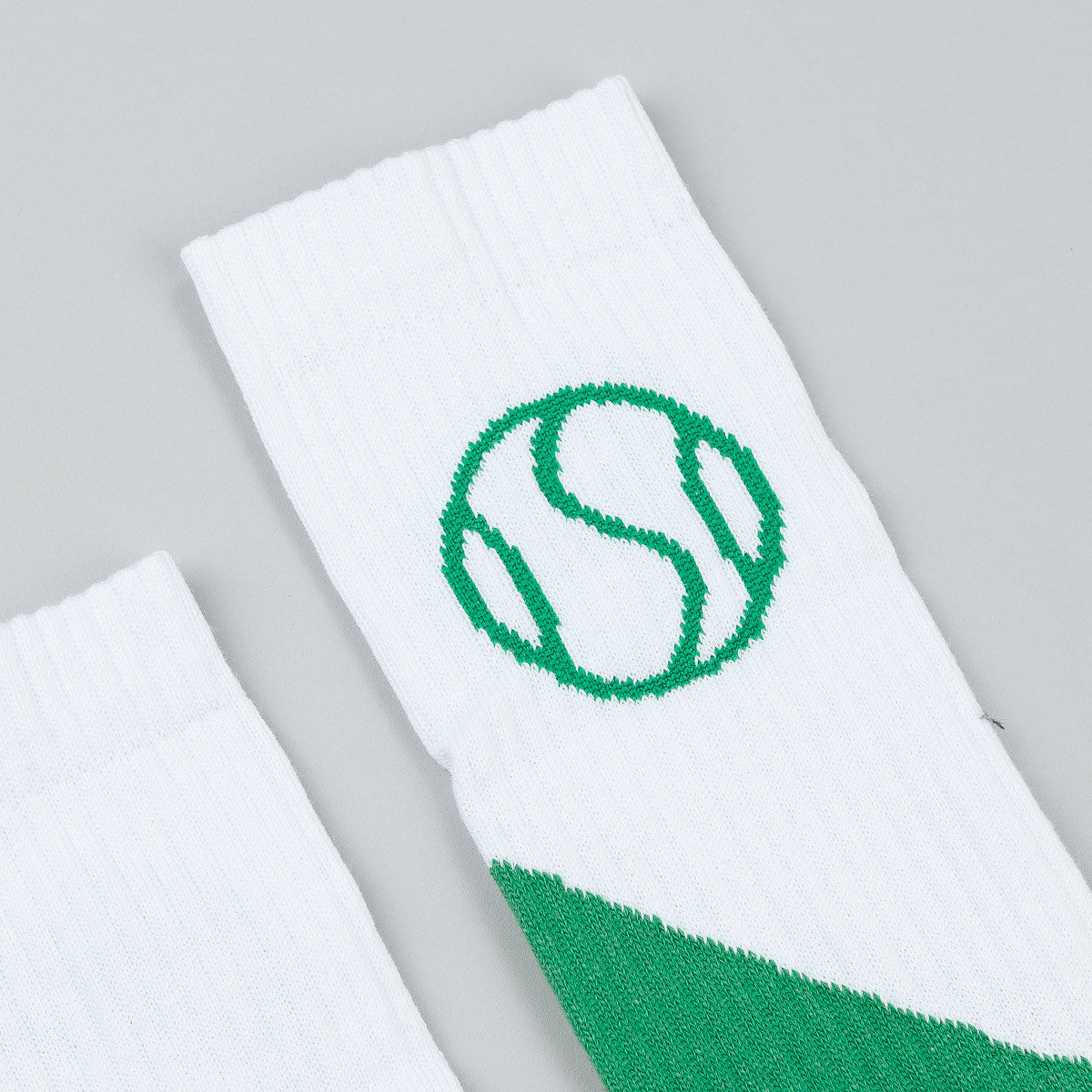 Post Details Tennis Anyone Socks - White / Green