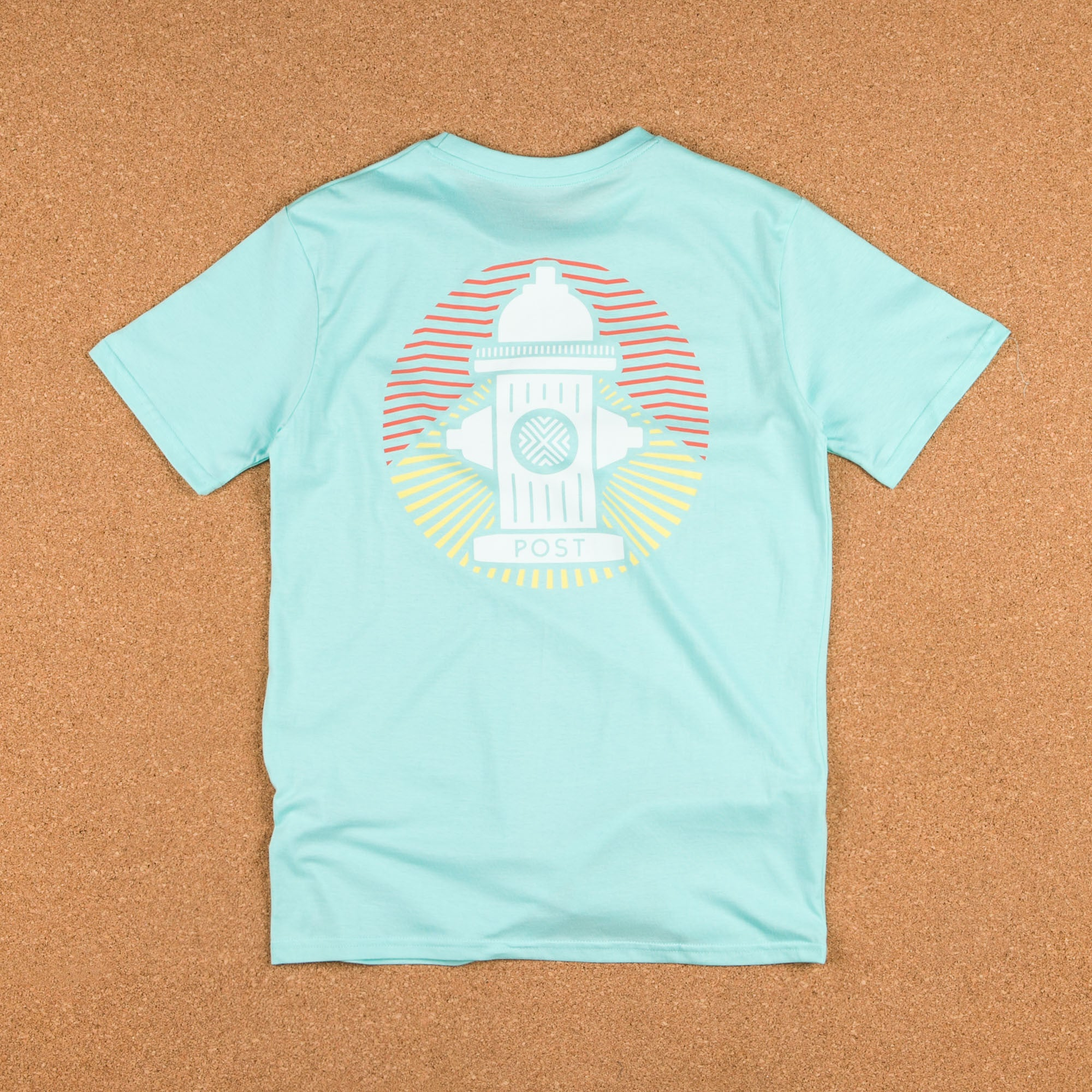 Post Details Tropical Hydrant T-Shirt - Faded Aqua