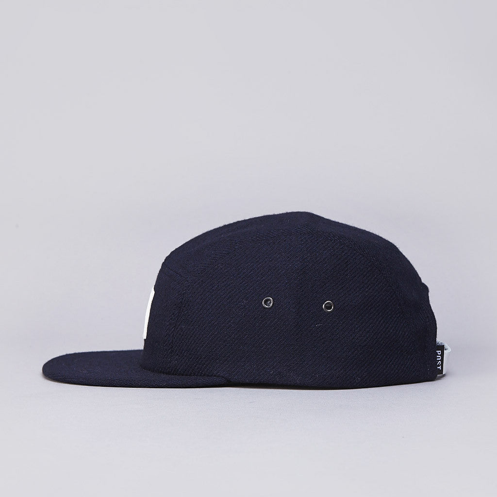Post Embossed Stamp 5 Panel Cap Navy