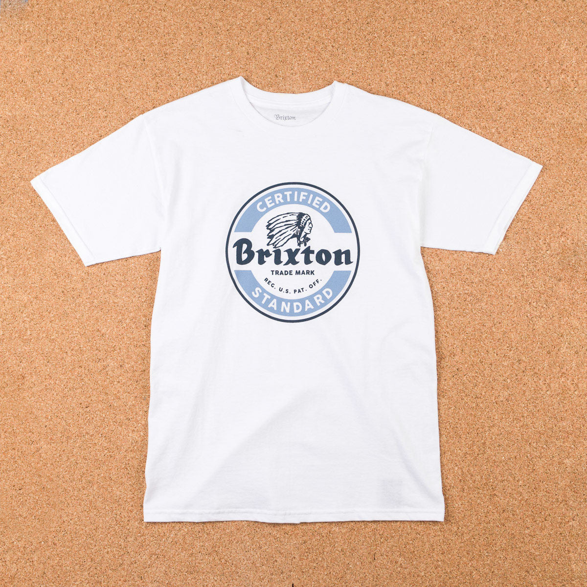 Brixton Soto T-Shirt - White / Blue