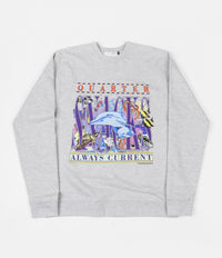Quartersnacks Always Current Crewneck Sweatshirt - Grey