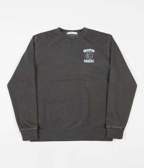 Quartersnacks Ball Is Life Crewneck Sweatshirt - Washed Charcoal