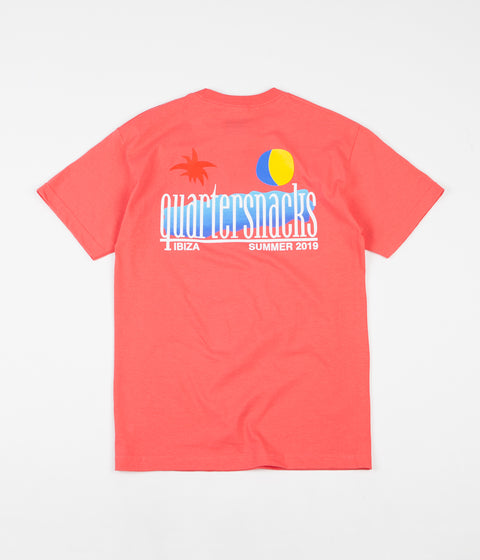 Quartersnacks Summer 2019 T-Shirt - Coral