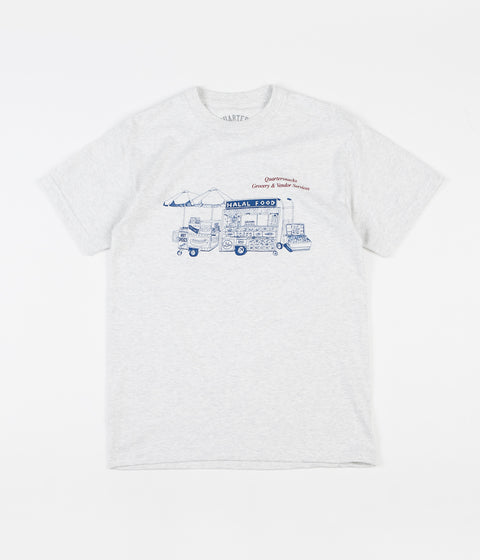 Quartersnacks Vendor Services T-Shirt - Ash Grey