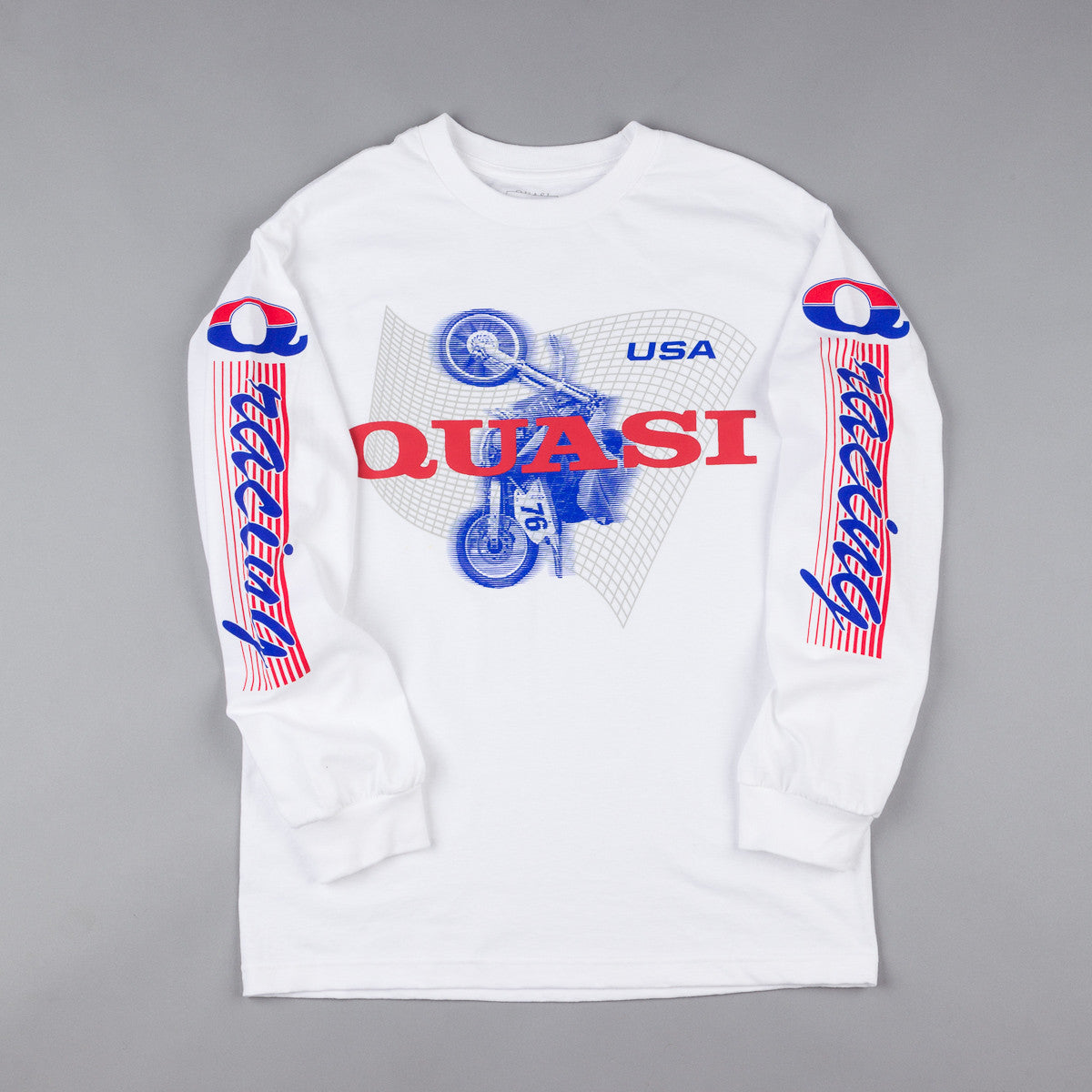 Quasi Clocked Long Sleeve T-shirt - White