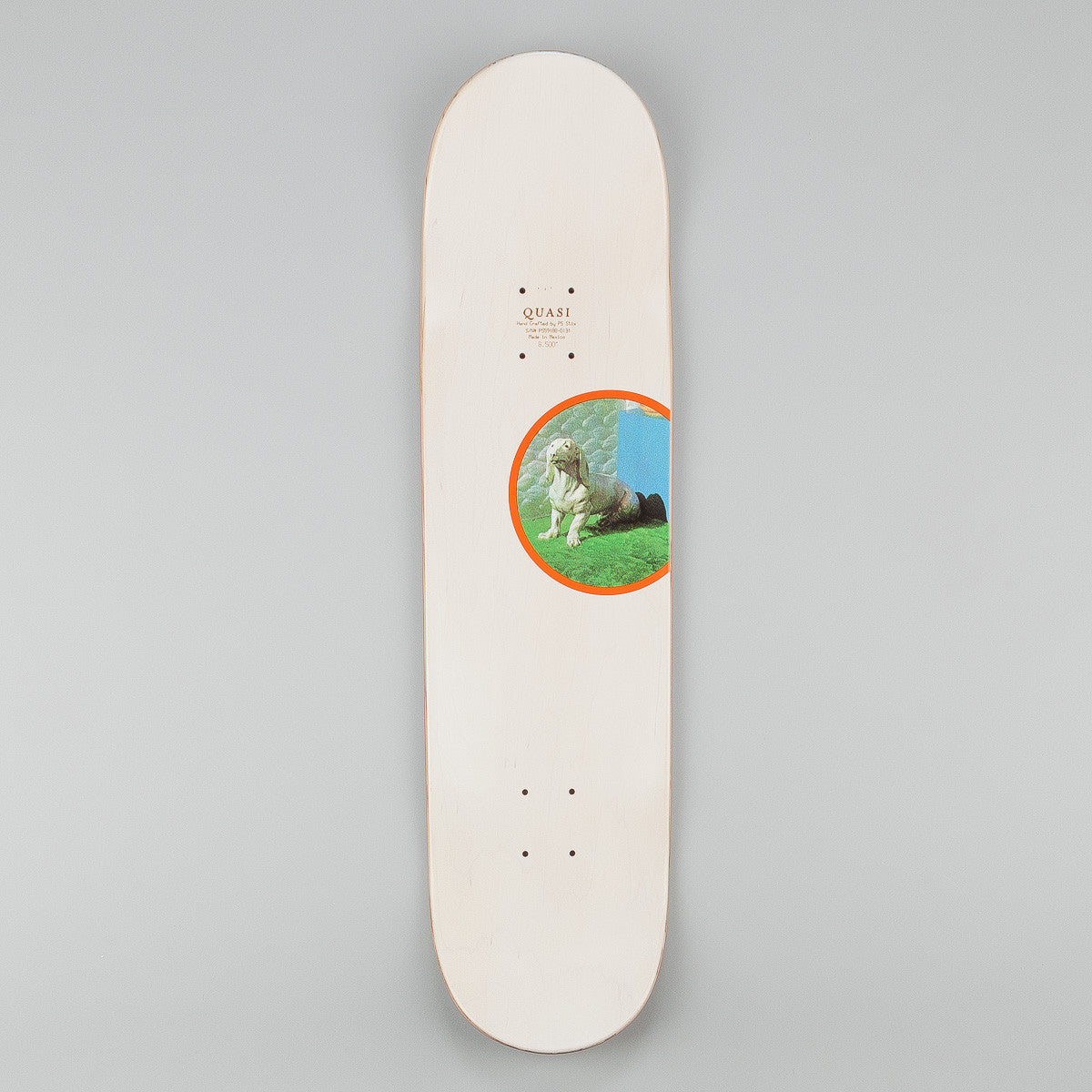 Quasi Skateboards 1972 White Wash Deck - Natural - 8.5""