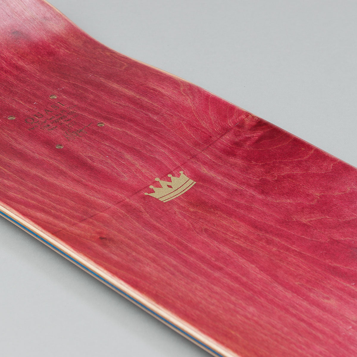 Quasi Skateboards Crockett 'Prince' [Two] Deck - Brown Wash 8.25""