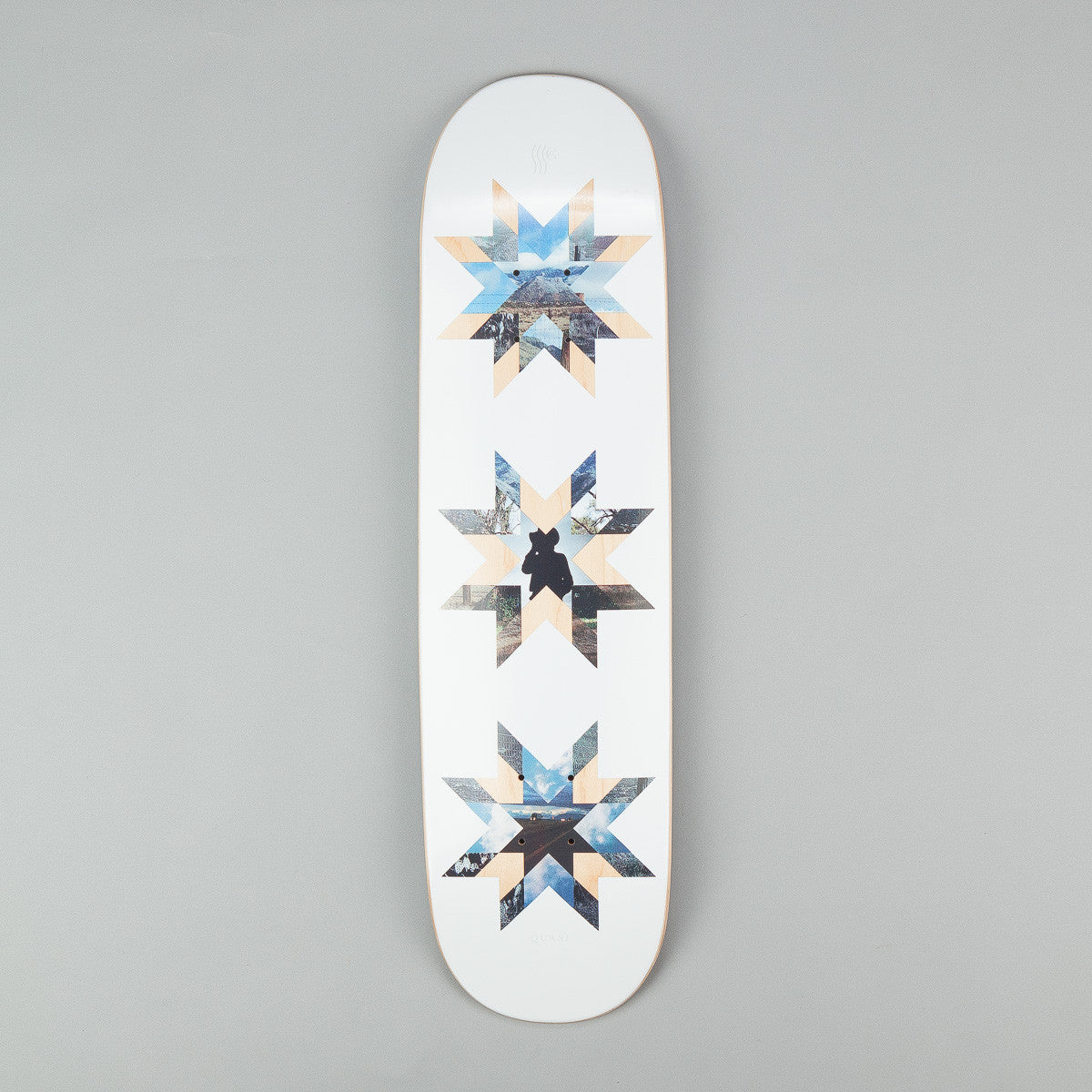 Quasi Skateboards Crockett 'Quilt' [One] Deck - Natural 8.125