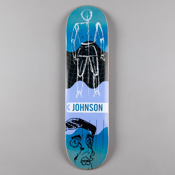 Quasi Skateboards Johnson Futuro (One) Deck - Blue Fade - 8.125""