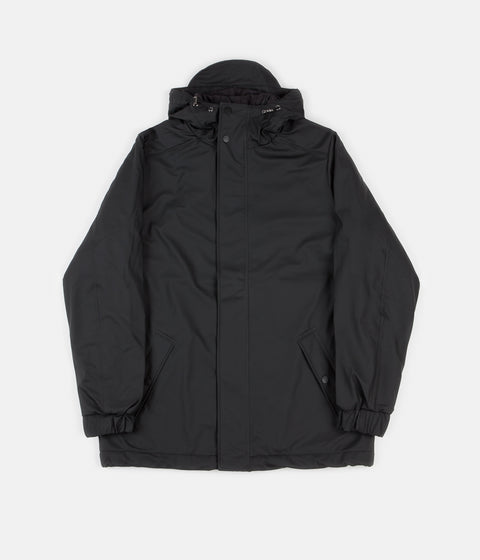 Rains Quilted Parka - Black