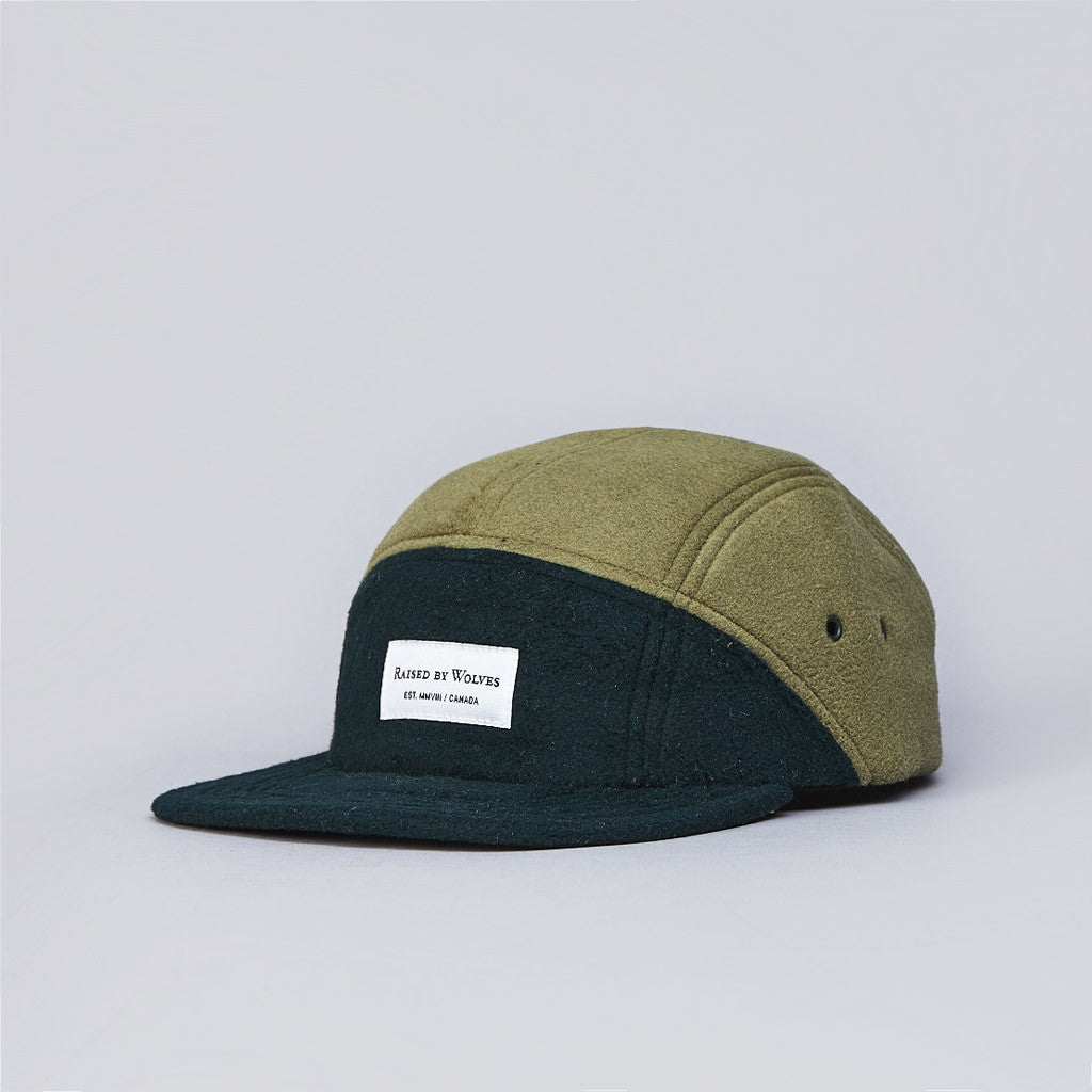 Raised By Wolves Polartec 7 Panel Cap Deep Ivy / Turtle