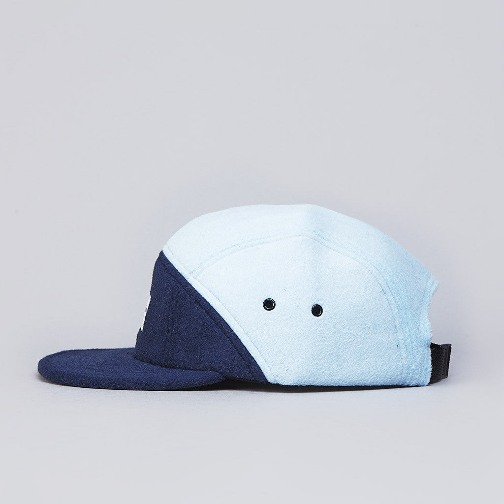 Raised By Wolves Polartec 7 Panel Cap Deep Water / Baby Blue