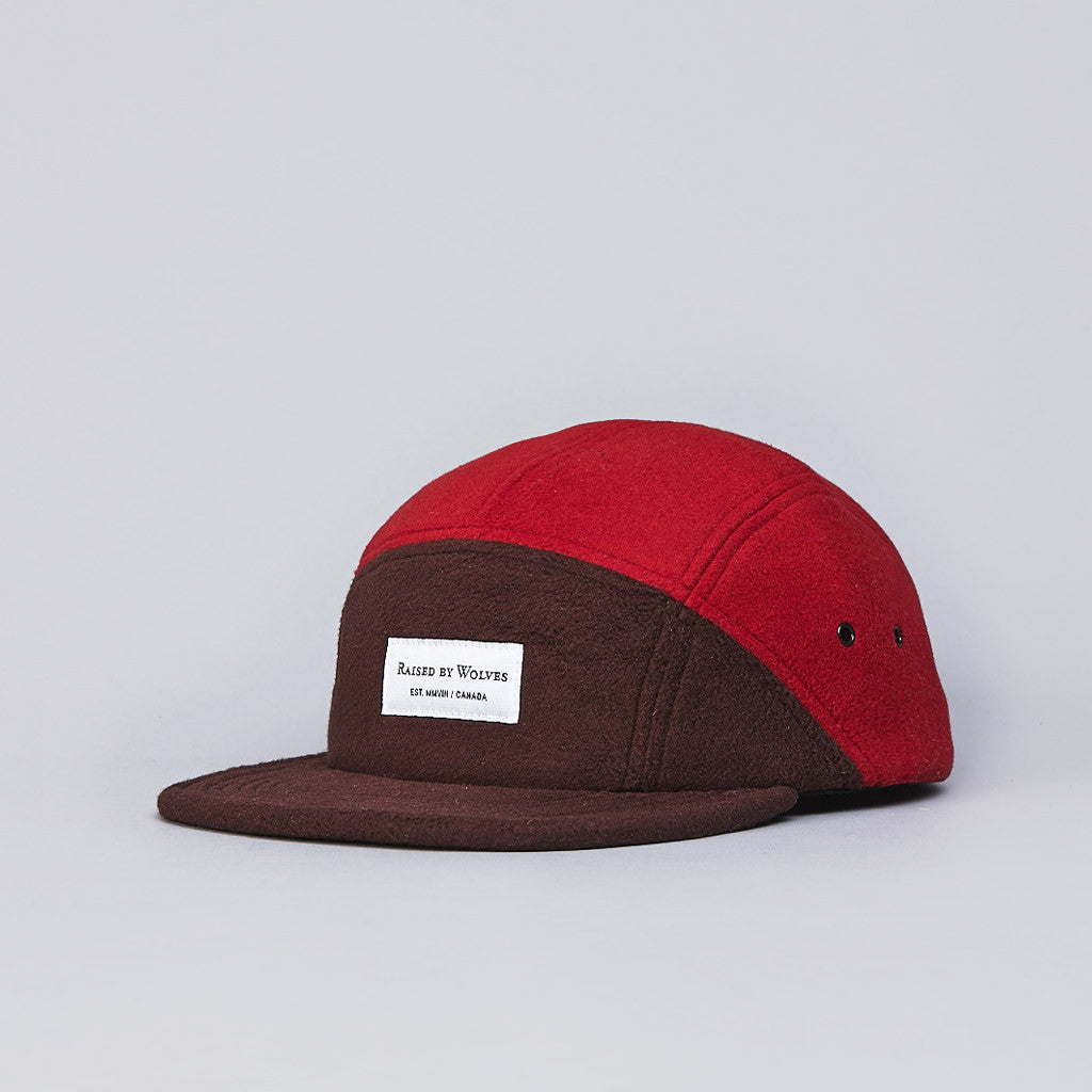 Raised By Wolves Polartec 7 Panel Cap Lehigh Brown / Paprika