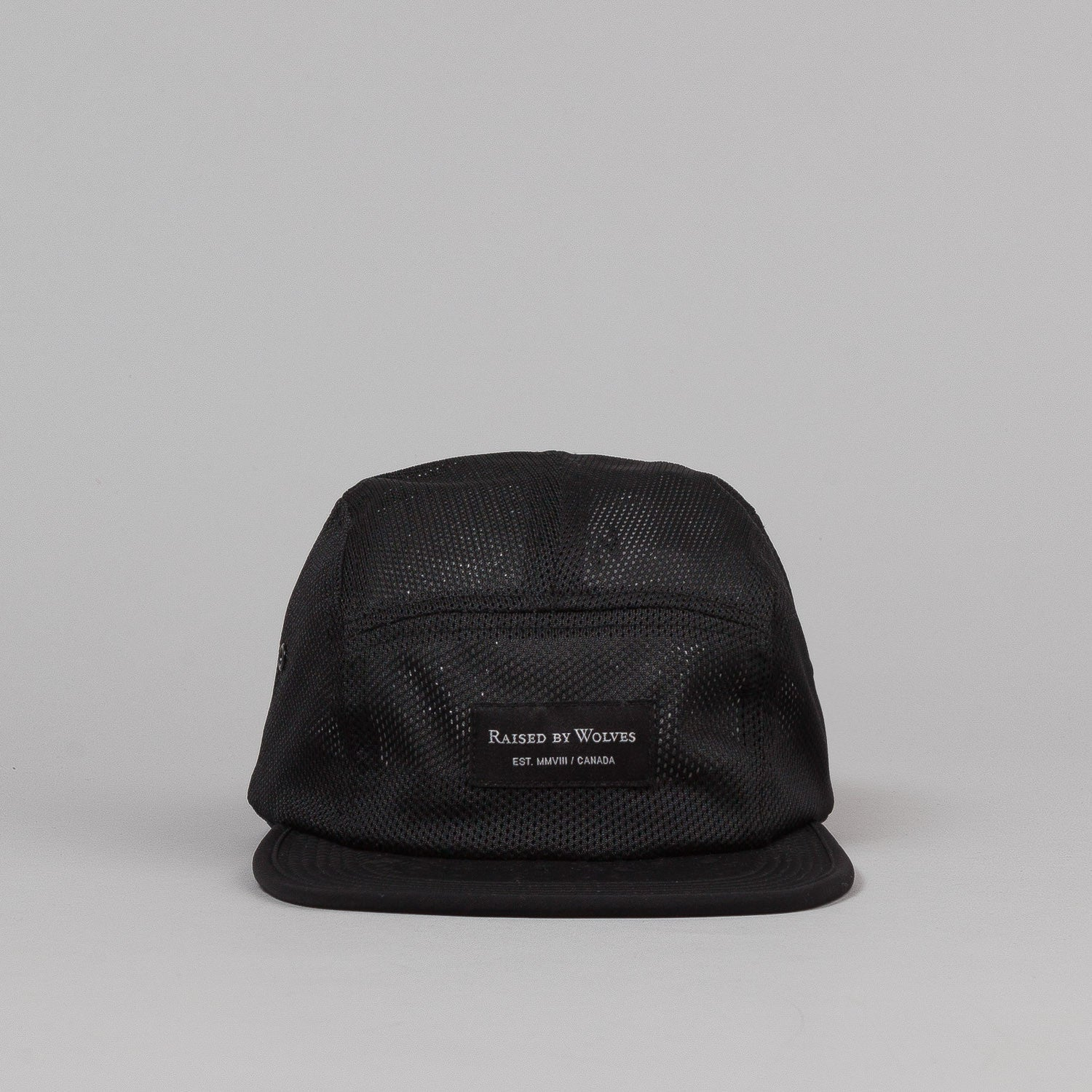 Raised By Wolves Algonquin Camp Cap - Koolknit Black