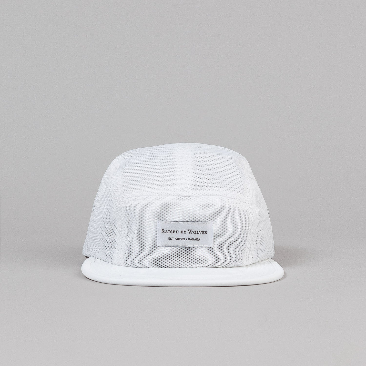 Raised By Wolves Algonquin Camp Cap - Koolknit White