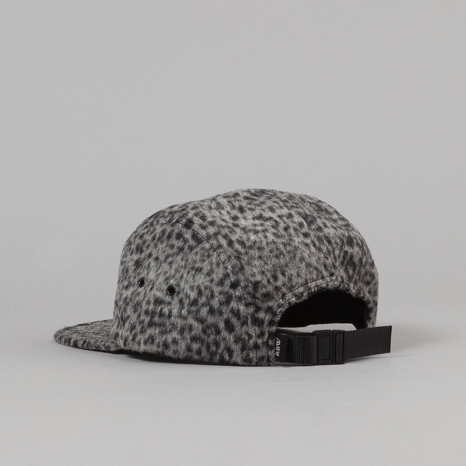 Raised By Wolves Algonquin Camp Cap - Leopard Wool Grey